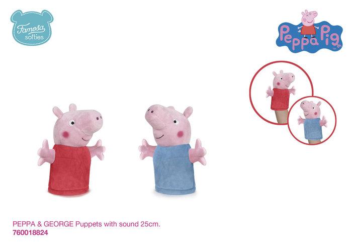 Marioneta peppa pig puppets con sonido 25 cm surtido
