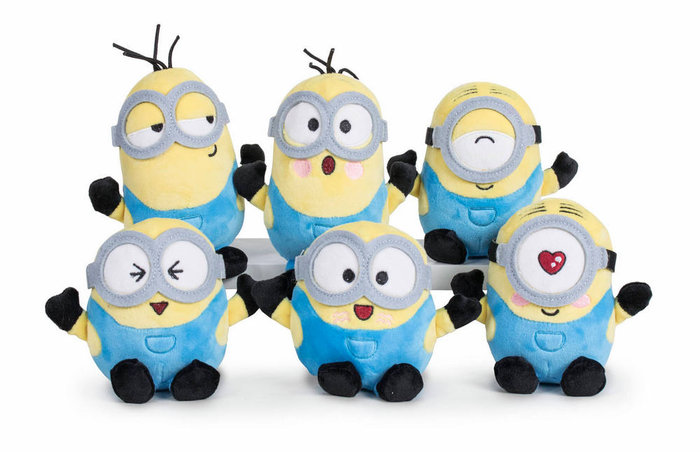 Peluhes minions too cute 18cm surtidos