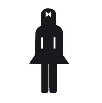 Etiqueta señalizar lavabo señoras