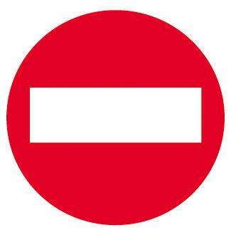 Etiqueta señalizar prohibido el paso