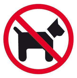 Etiqueta señalizar prohibido perros