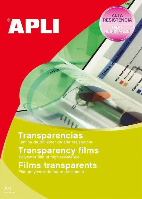 Transparencias fotocopiadora banda lateral caja 100h