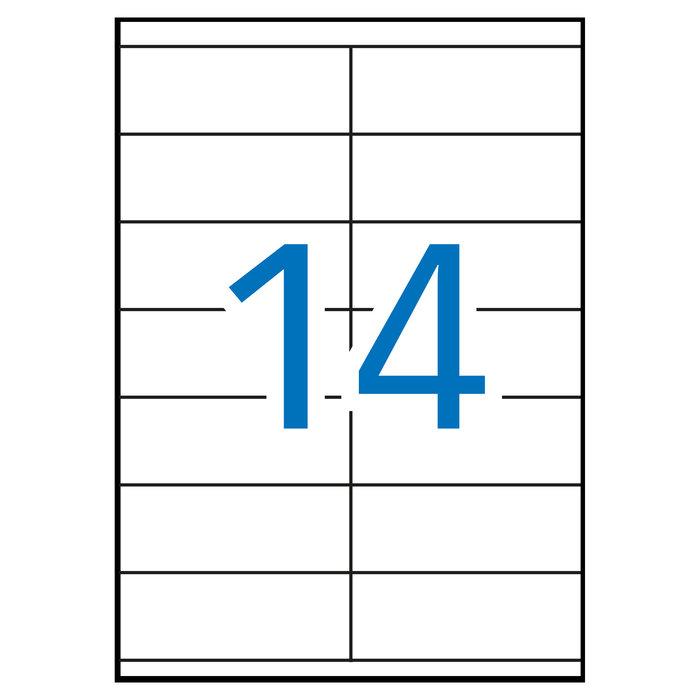 Etiqueta fotocopia laser 105x40 apli