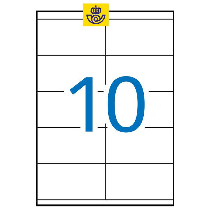 Etiqueta apli impresora 105x57