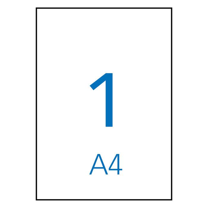 Etiqueta apli impresora a4 1 por hoja 210 x 297