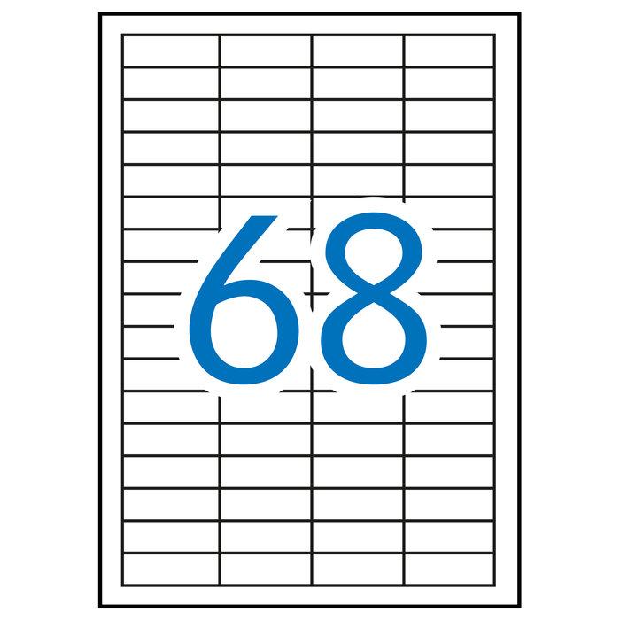 Etiqueta apli impresora a4 68 p.hoja 48,5x16,9