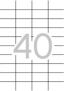 Etiqueta apli impresora a4 40 pegatinas hoja 52.5x29.7