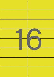 Etiquetas amarillas permanentes 105,0 x 37,0 mm 20 hojas