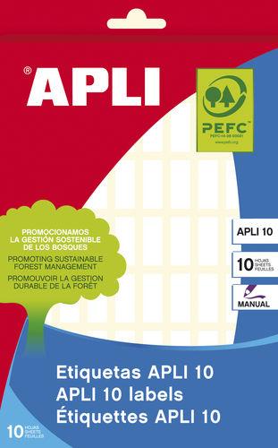 Etiqueta adhesiva 8x20 01633 apli 10h