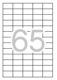 Etiquetas blancas para impresora 38x21,2 caja 100h
