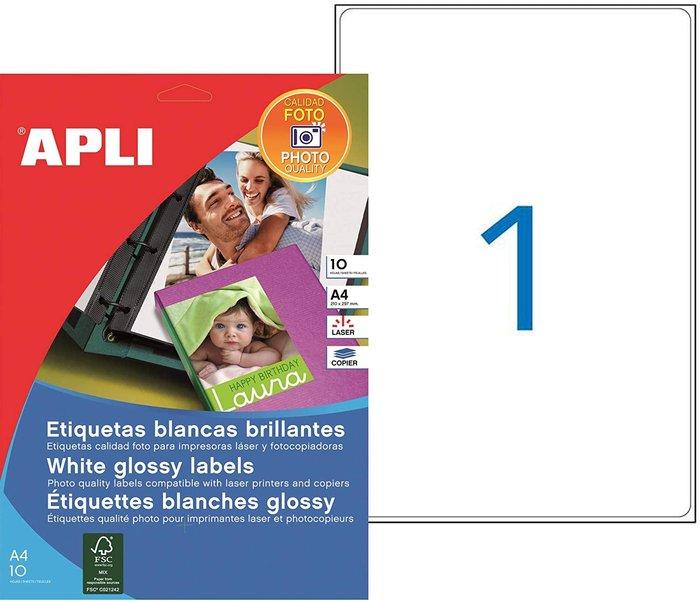Etiquetas blancas calidad foto para laser 199,6 x 289,1 mm