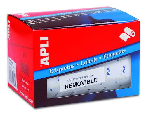 Etiqueta rollo pvp/euro 12x18 10084 blanca