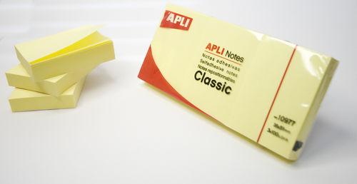 Notas adhesivas 40x50 apli amarillo 3 uds