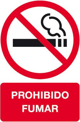 Etiqueta señalizar 180x120 b/2 prohibido fumar