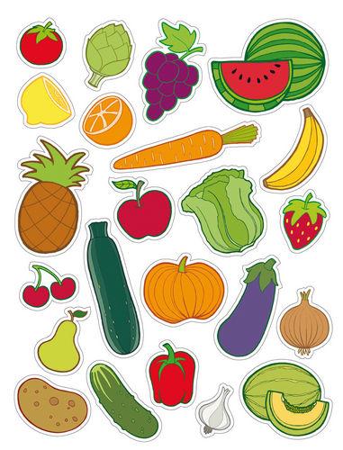 Gomets removible bolsa 3h frutas y verduras