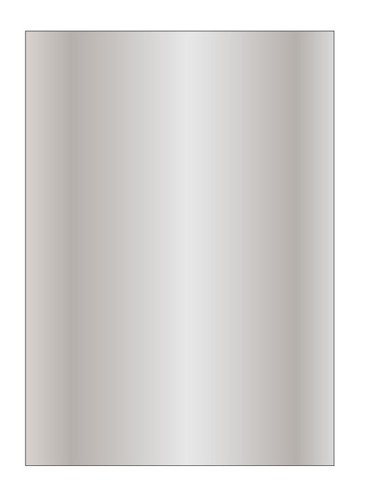 Papel metalizado plata 130 gr 10h