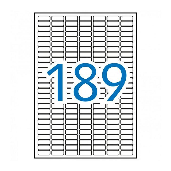 Etiqueta apli blanca 25.4x10mm a4 10h 12927