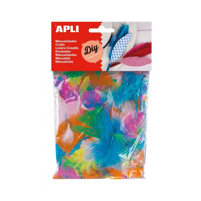 Plumas collage colores surtidos