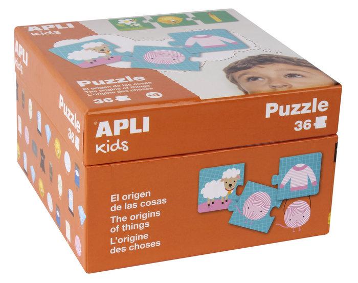 Puzzle 36 piezas origen de las cosas