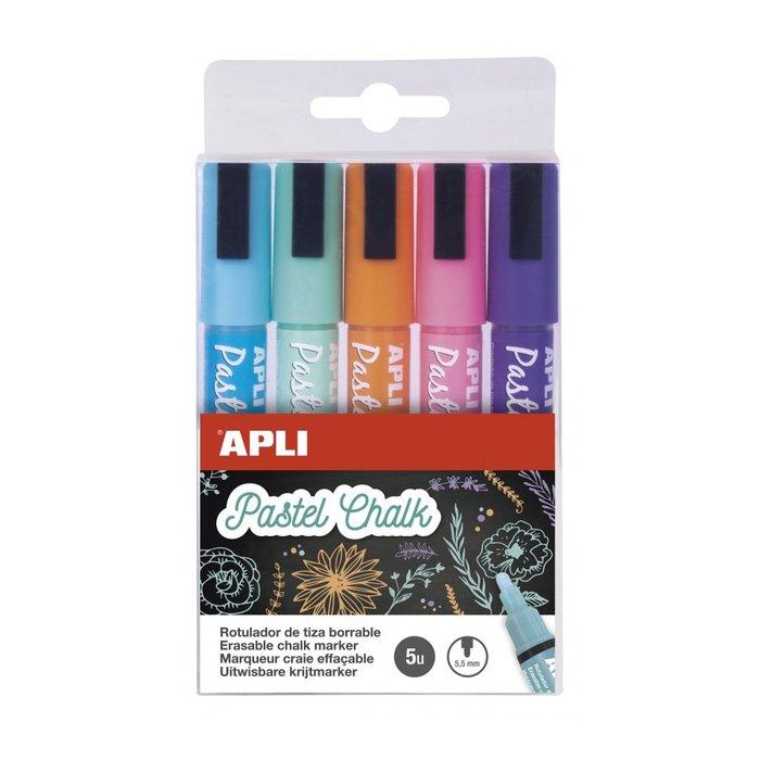 Rotuladores tiza liquida punta redonda 5,5 mm color pastel