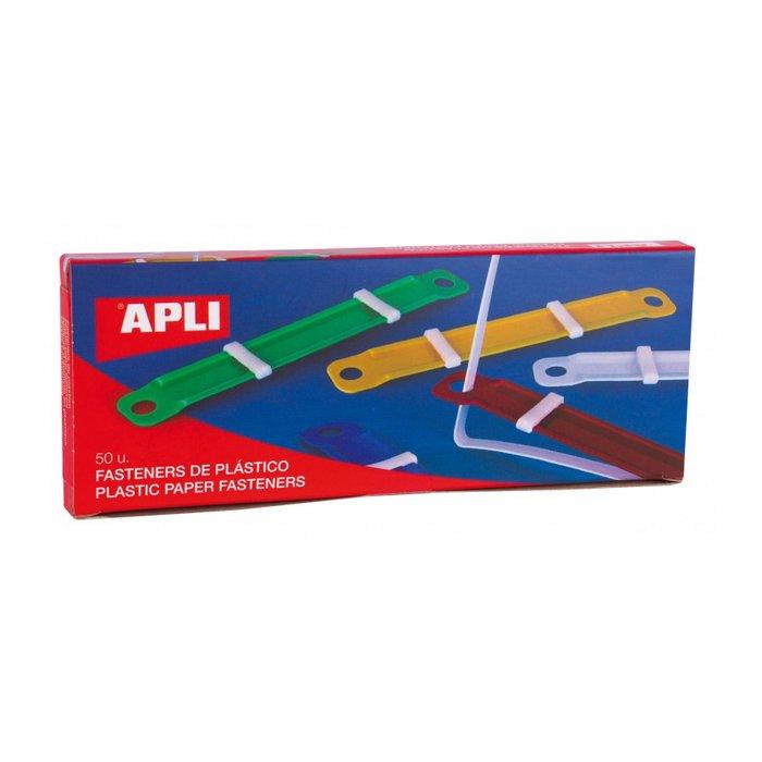 Fastener de plastico colores surtidos 90 x 12 mm 50 uni.