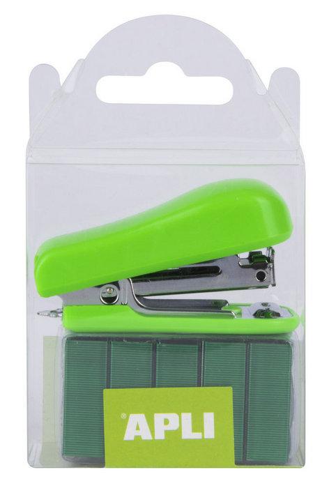 Grapadora pocket verde con grapas n10 2000 uds