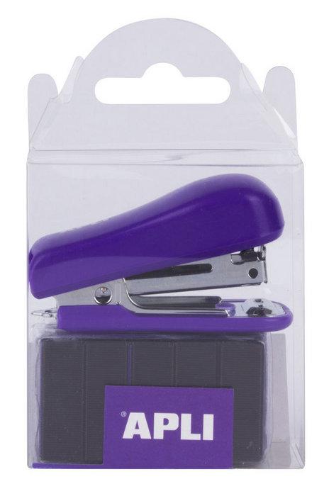 Grapadora pocket lila con grapas n10 2000 uds