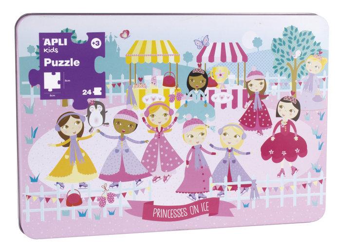 Puzzle 24 piezas princesas sobre hielo