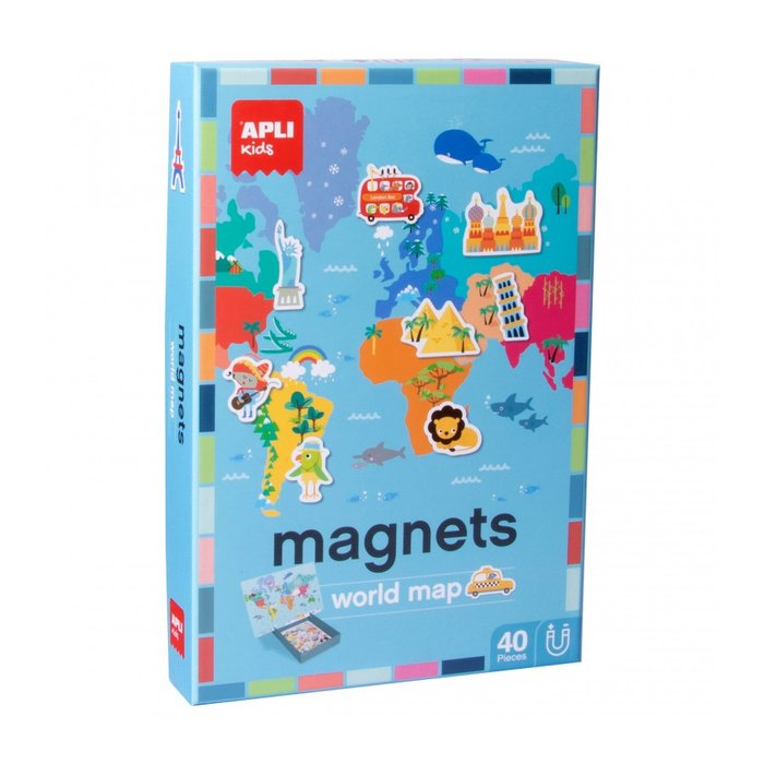 Juego magnetico mapa mundi 40 piezas