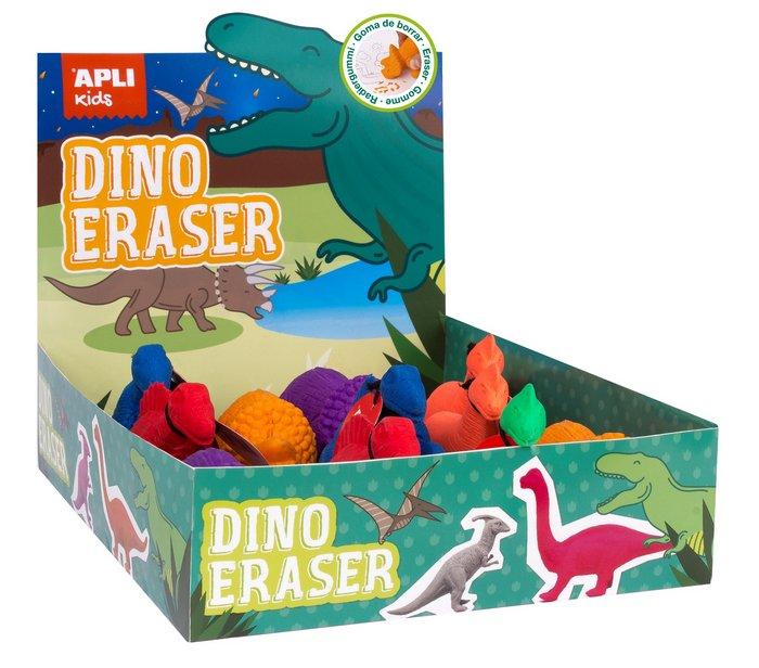 Goma de borrar dinosaurios 12 unidades