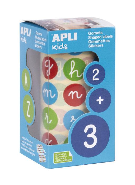 Gomets abecedario minuscula colores surtidos 20 mm