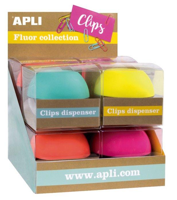 Expositor 8 dispensadores de clips fluor collection
