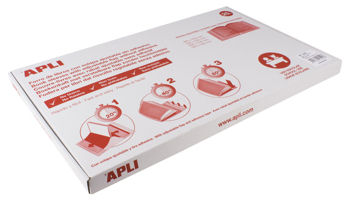 Forro libro ajustable 300 mm 25 unidades