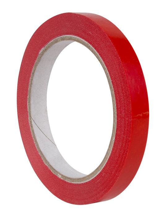 Rollo cinta adhesiva pvc rojo 12 mm x 66 m