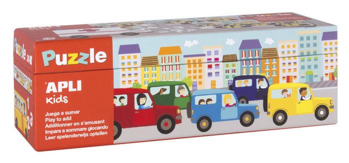 Puzzle sumas transportes 30 piezas