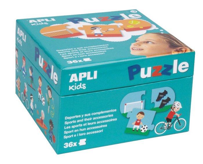 Puzzle deportes y sus complementos caja 36 piezas