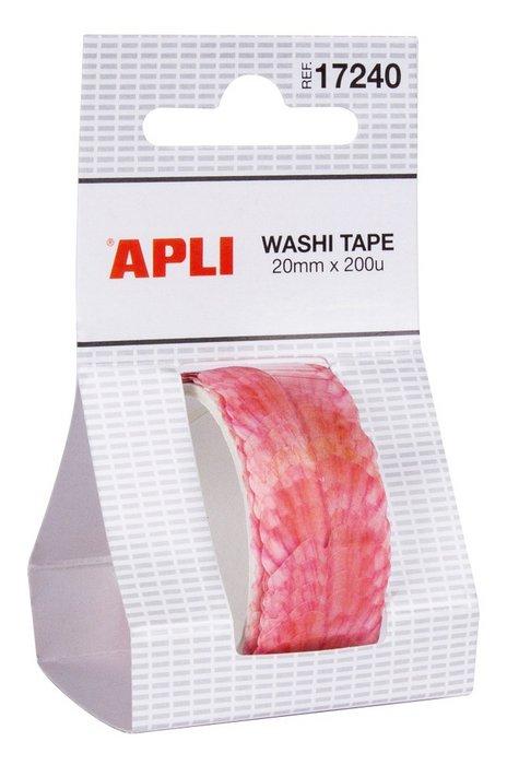 Rollo washi tape 20 mm x 2 m petalos