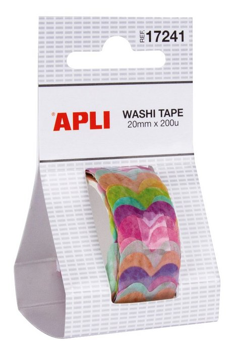 Rollo washi tape 20 mm x 2 m corazones
