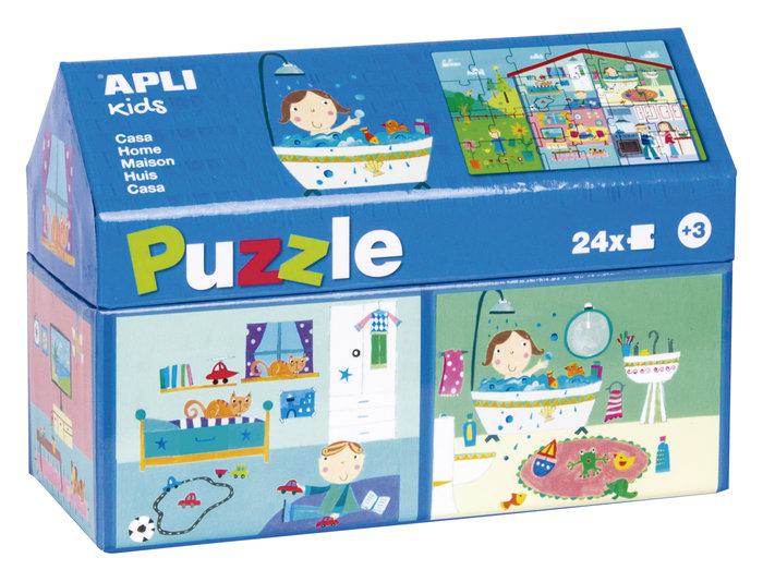 Puzle 24 piezas caja casita casa