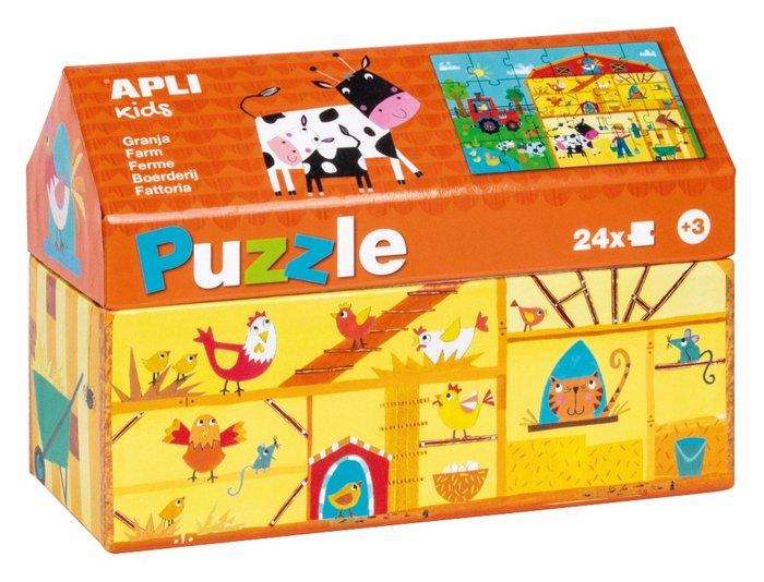 Puzle casita granja caja 24 piezas