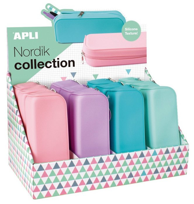 Estuche silicona soft nordik 12 unidades pastel
