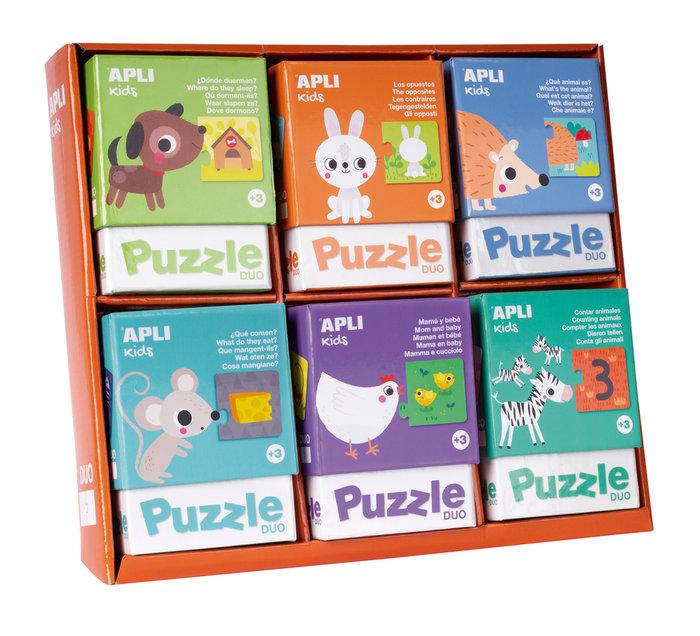 Expositor 6 puzles duo surtidos