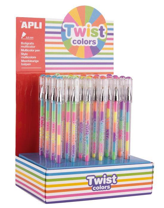 Boligrafo gel twist colores surtidos blister