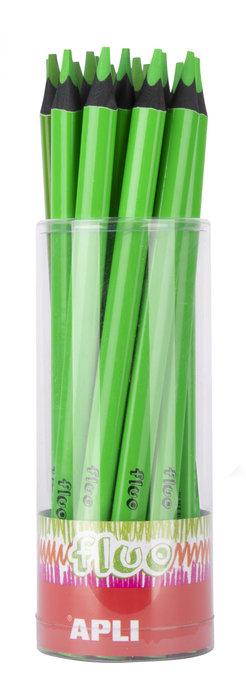 Lapiz jumbo fluor tricolor verde 18 unidades