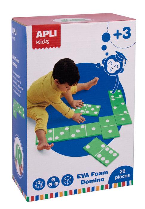 Domino goma eva caja 28 uds