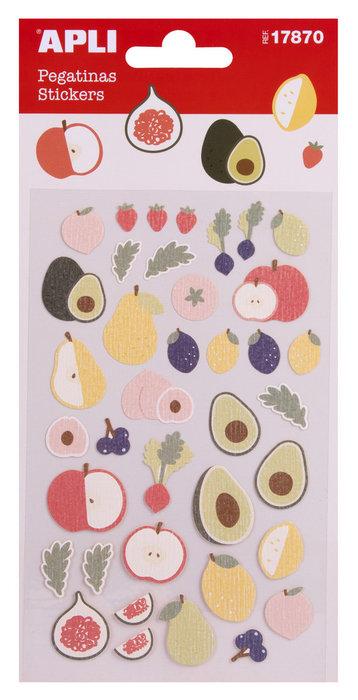 Bolsa de pegatinas frutas frescas