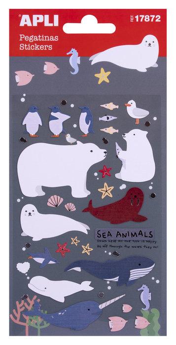 Bolsa de pegatinas animales marinos
