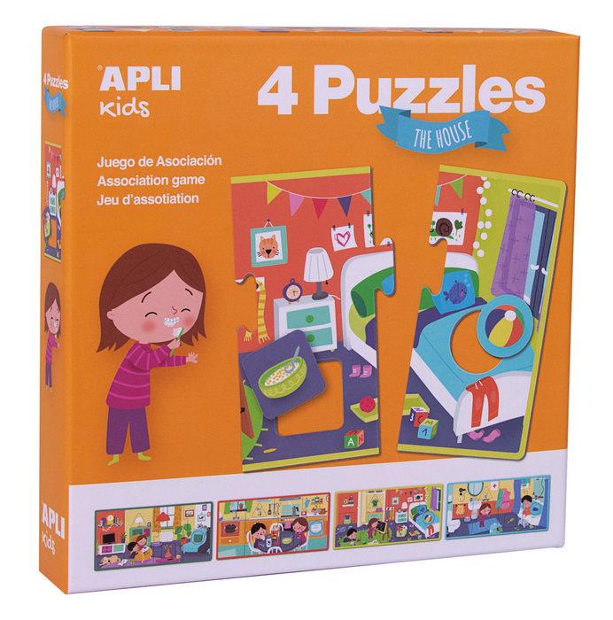 Puzzles la casa caja 4 modelos