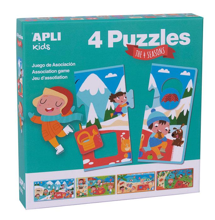 Puzzle las estaciones caja 4 unidades