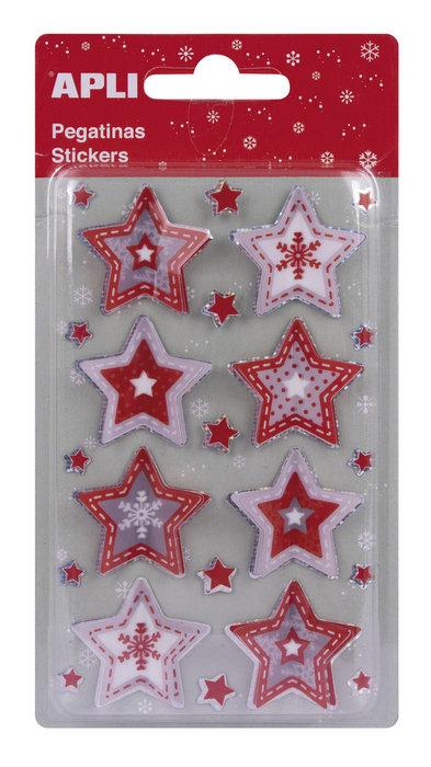 Bolsa de pegatinas estrellas 3d